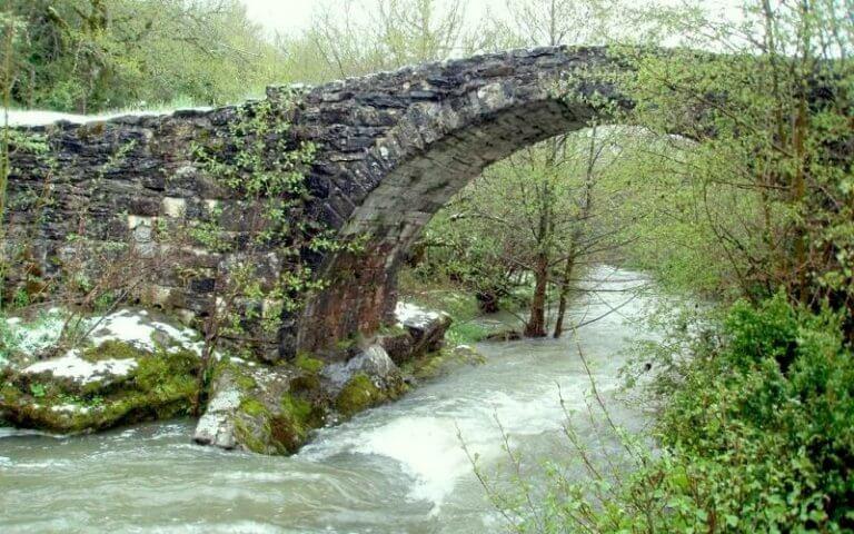 Puente Medieval Románico de Auritz Burguete