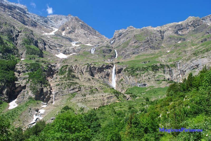 Vista de las Cascadas del Cinca