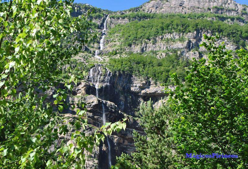 Vista aerea de la Cascada del Cinca