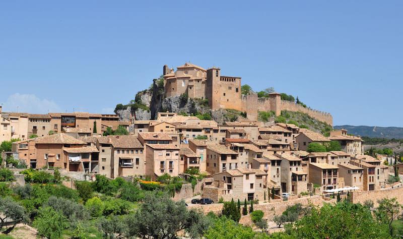 Vistas sobre el pueblo de Alquézar