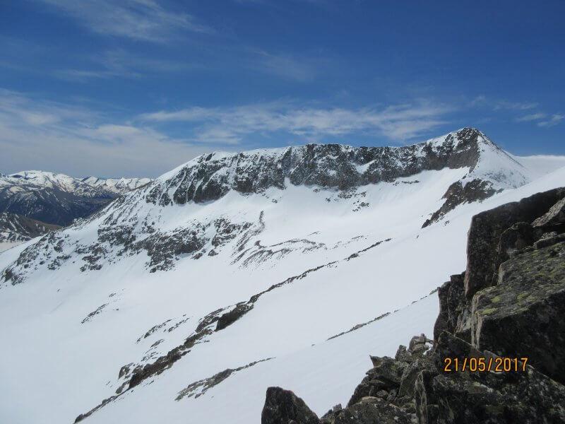 Cresta Lliterola desde el Ibón Blanco