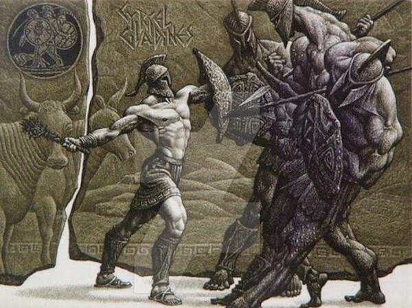 lucha entre Hércules y Gerión