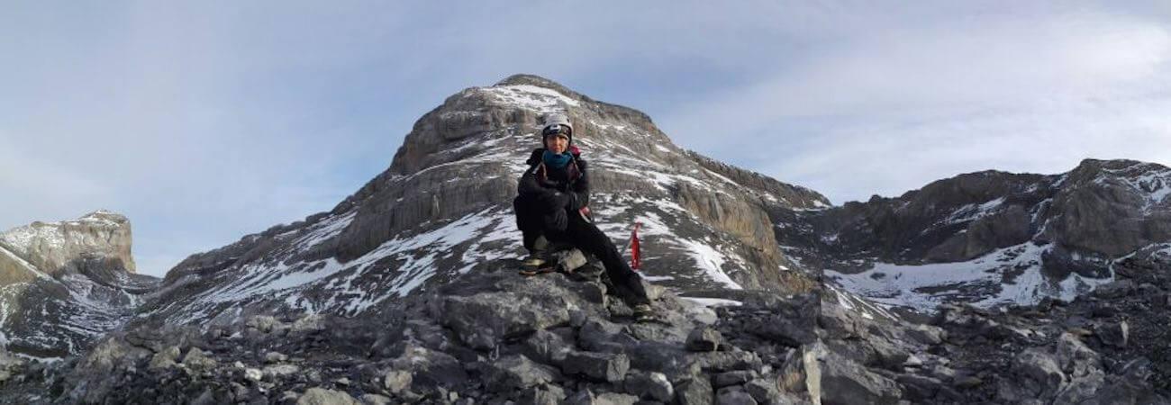 Vistas a Tres Sorores ascenso Pico Añisclo