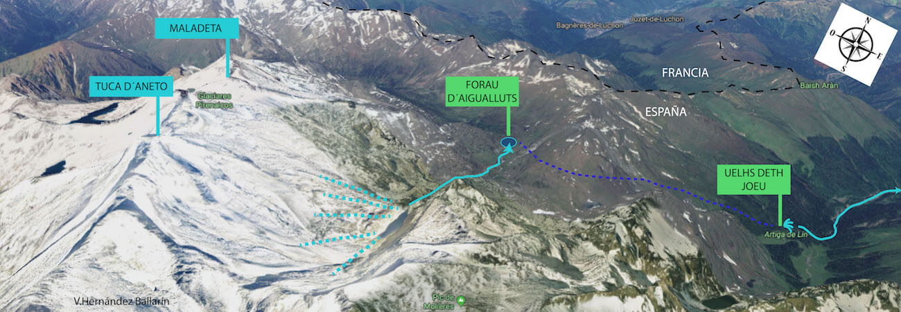 El rio Garona y su Origen Aragones