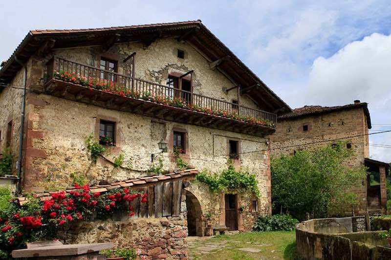 Casas típicas valle de Baztán