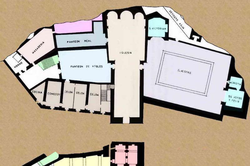 Mapa interior de San Juan de la Peña