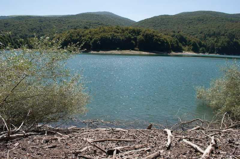 Embalse de Irabia en la Selva de Irati