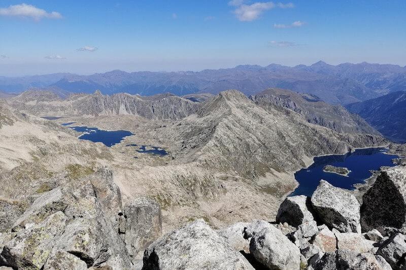 vistas desde la brecha Mágicos Pirineos